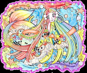Mermay - Rainbow Mermaid by sekaiichihappy