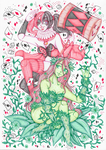 Harley Quinn and Poison Ivy [ ART TRADE ]