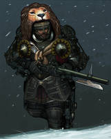 Medieval Steampunk Knight 1 by obyekt