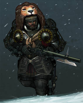 Medieval Steampunk Knight 1