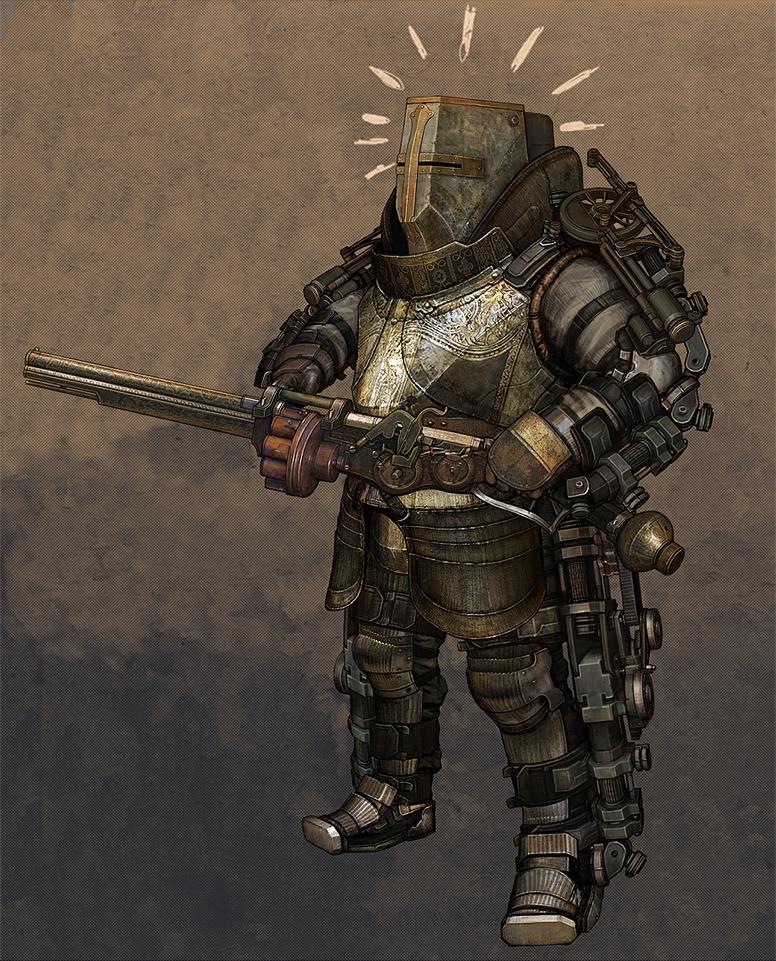 Medieval Steampunk Knight 2 by obyekt