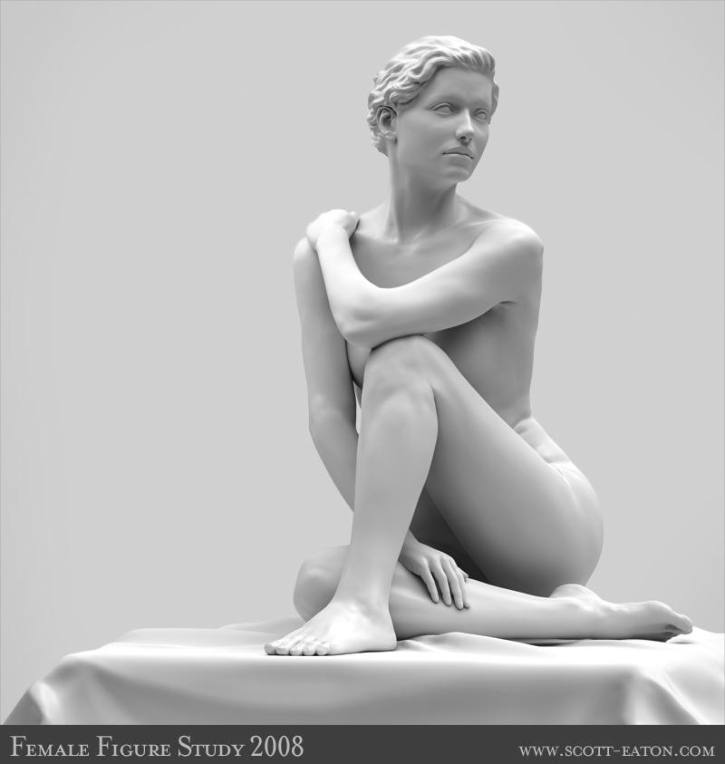 Female Figure Study 1 by DanikaMilles
