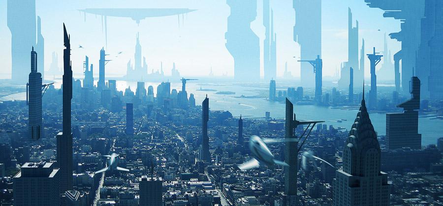 Blue City landscape by Tnco