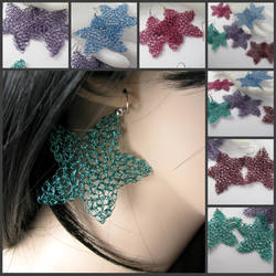 Travelling stars earrings by CatsWire
