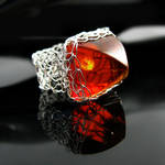 Faux amber ring #2