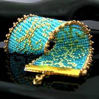 Bead loomed swirls bracelet by CatsWire