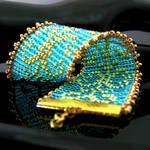 Bead loomed swirls bracelet