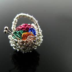 A knitter's basket