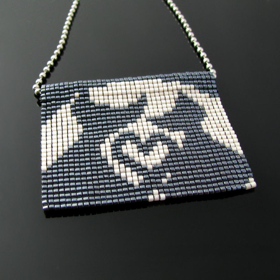 Bead loomed Lovecats - A HeatherCat piece by CatsWire