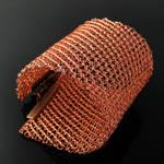 Wide wire knit cuff