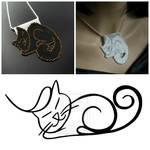 Bead loomed Petcat pendants - HeatherCats