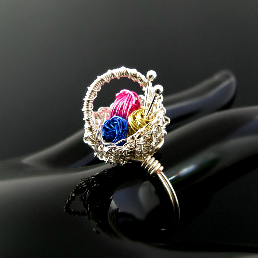 how to make ring from yarn