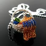 Yarn basket pendant with scarf