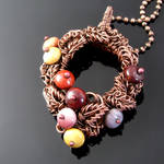 Autumn wreath pendant by CatsWire