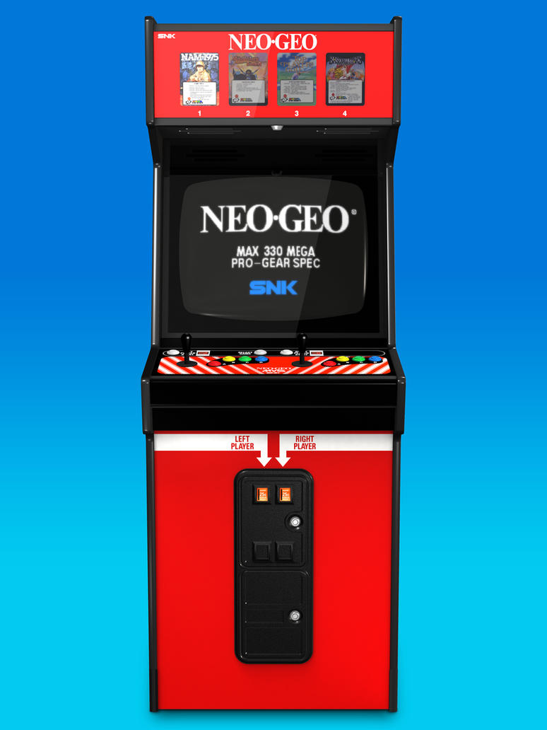 Big Red Neo Geo Cabinet 3d Model Front By Arcade Tv On