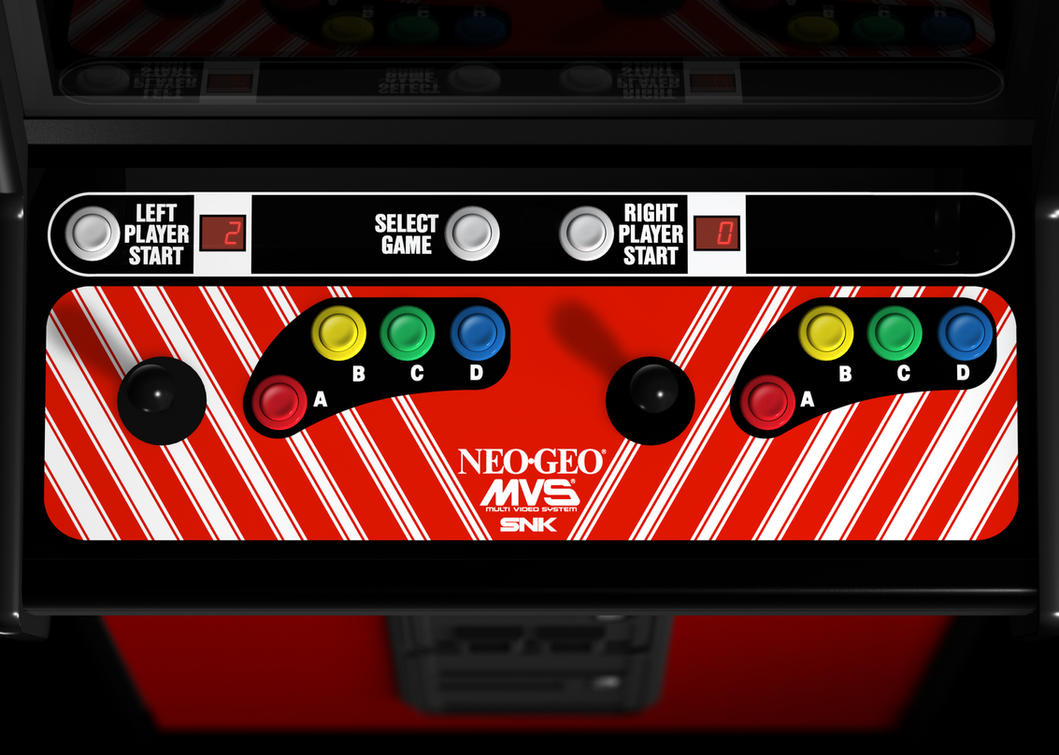 NEO GEO MVS Cabinet Control Panel (3D) by Arcade-TV on ...