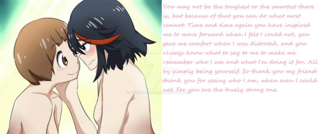 Ryuko and Mako by psychoman4