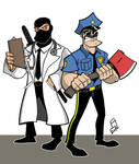Axe Cop and Dr. McNinja