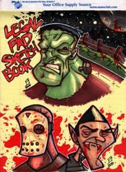 Legal Pad Halloween Horror by juniorbethyname