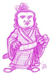 SKETCH John Belushi as Samurai Futaba by juniorbethyname