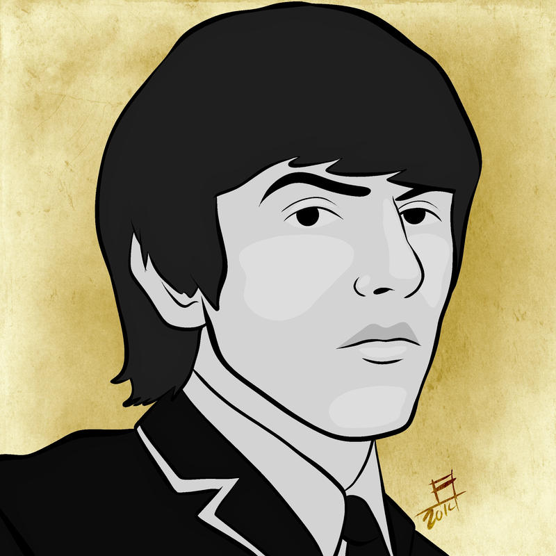 George Harrison 2 by juniorbethyname