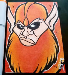 Beastman | Masters of the Universe - Sketch Card by juniorbethyname