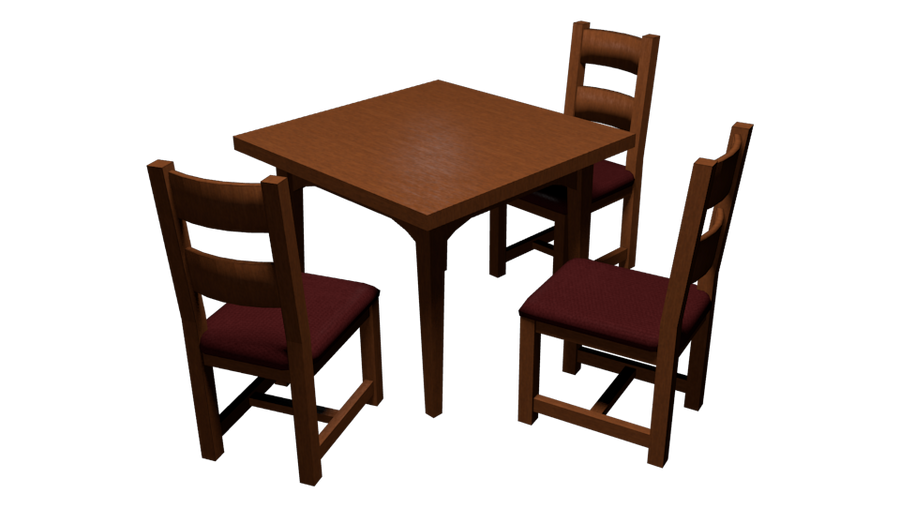 Dining table and chairs wip by under raggz on deviantart
