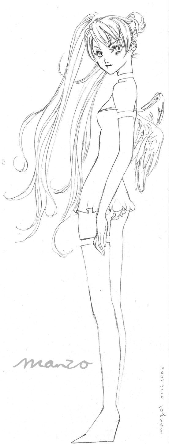 sketch 20050116 love angel by manzo