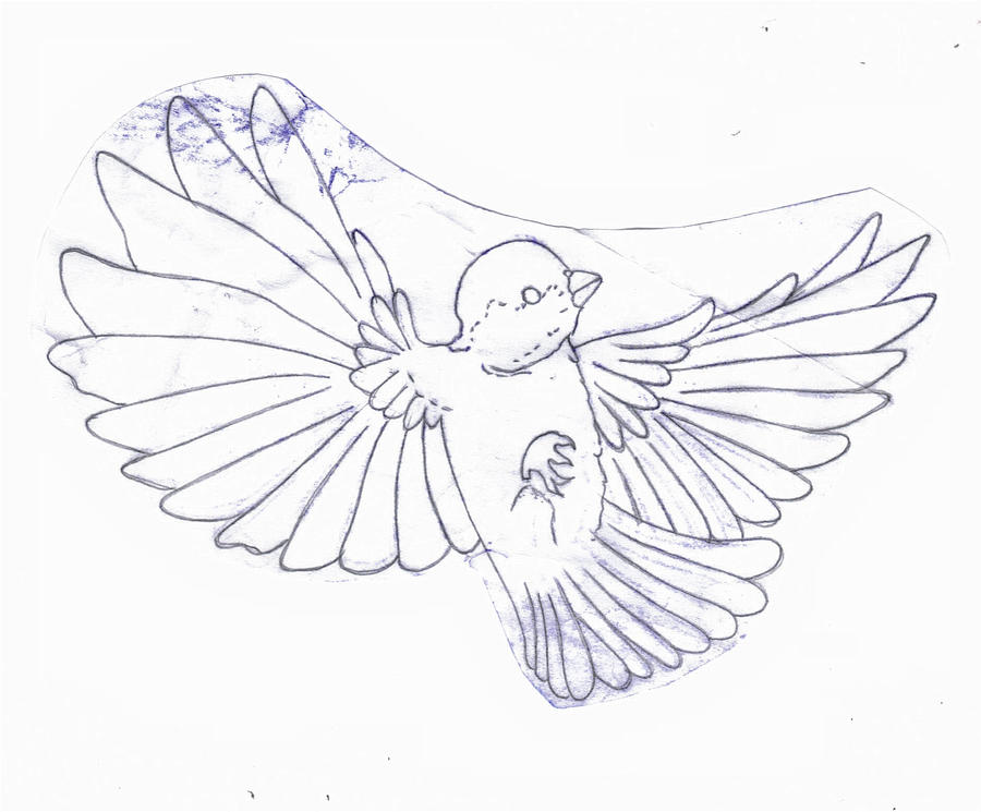 Sparrow Silhouette Tattoo at GetDrawingscom  Free for