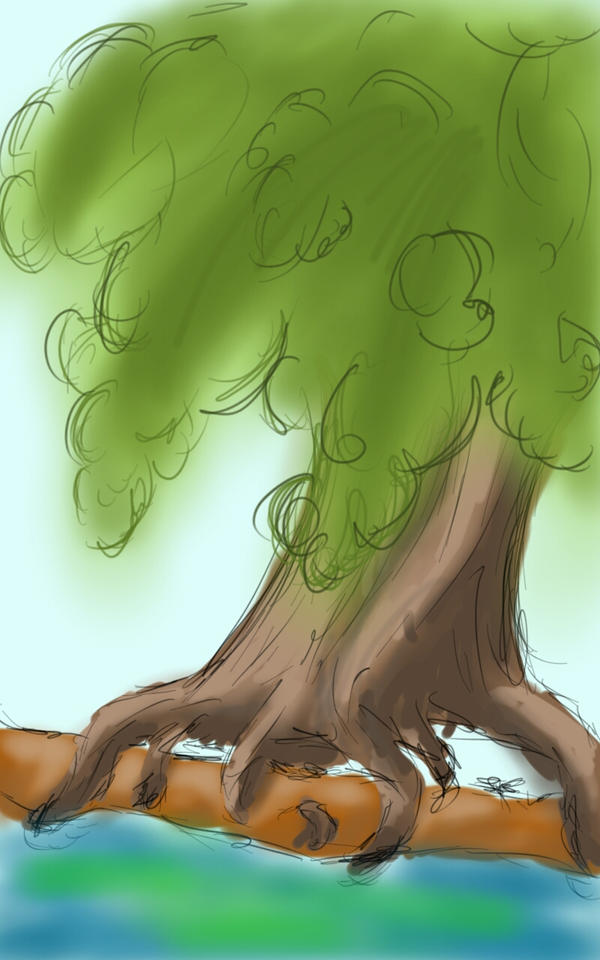 sketch challenge ~ tree by girliearist