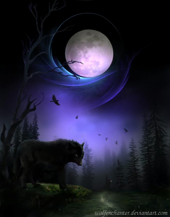 Lunar Aurora by wolfenchanter