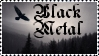 Black Metal stamp by wolfenchanter