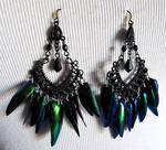 Jewel wing earrings