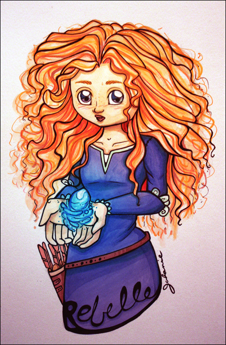 Mes petites illustrations Merida_by_dragonne-d5a8xht