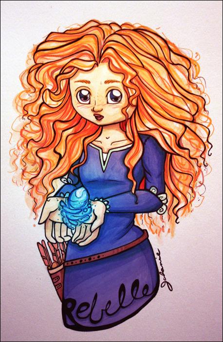 Mes petites illustrations Merida_by_dragonne-d5a8xht