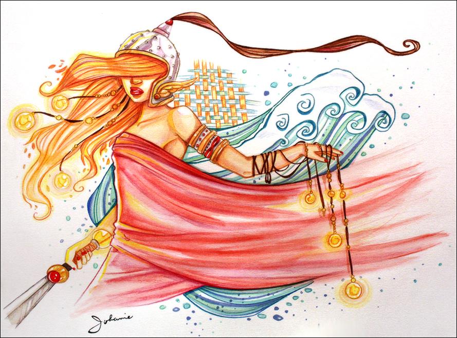 Mes petites illustrations Belisama_by_dragonne-d5bj55e