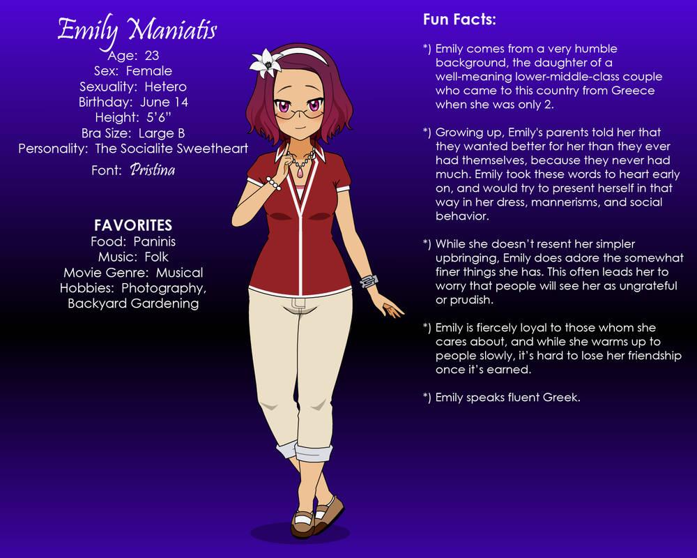 Emily Maniatis (PROFILE + AMA START POINT) by KisekaeDenizen on
