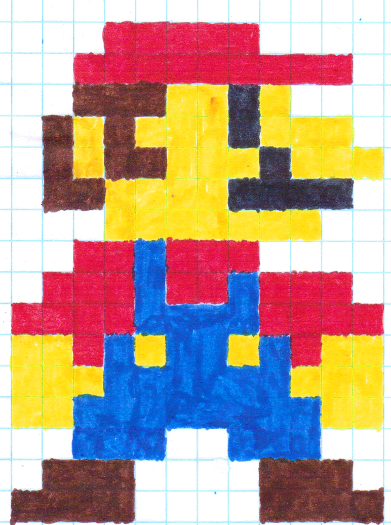 Pictures of Mario Nes Sprite Grid - #rock-cafe