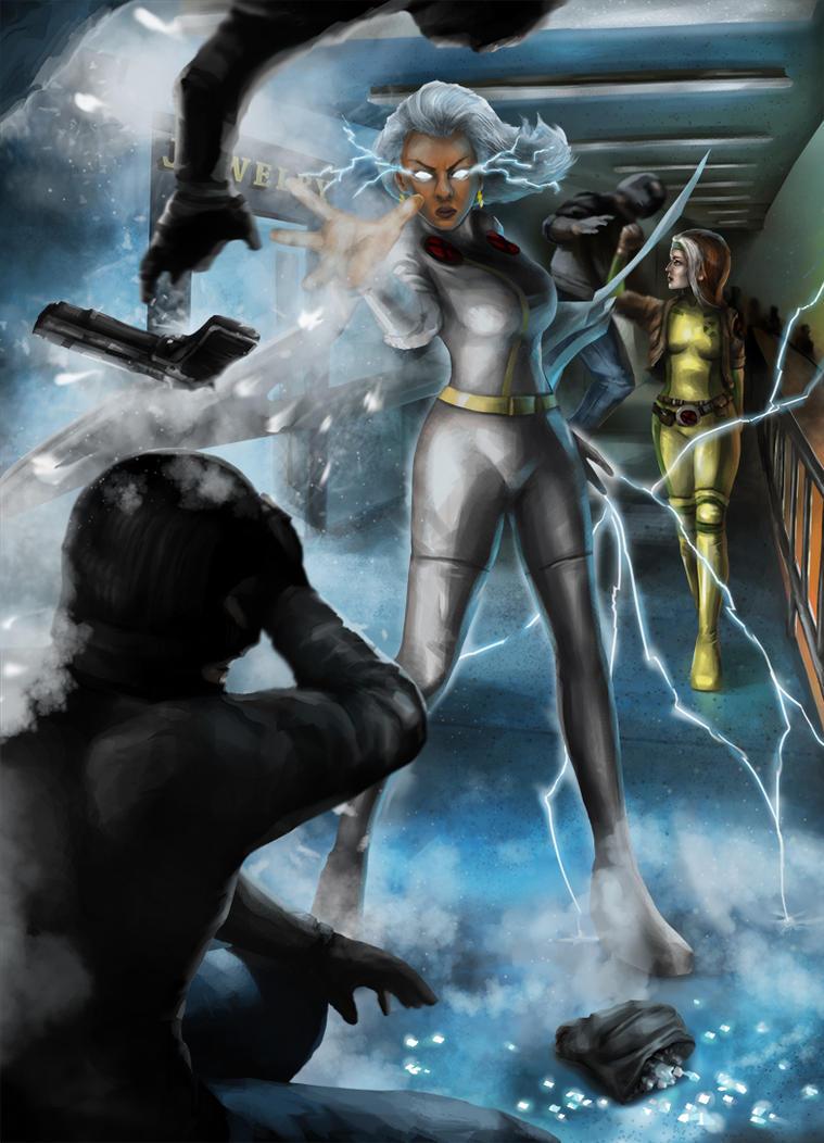 Storm, Mistress Of The Elements! by DavidDeMendoza