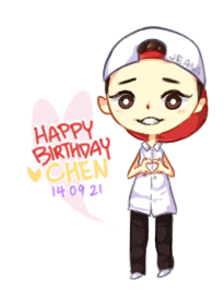 HBD - EXO Chen by JeanaWei