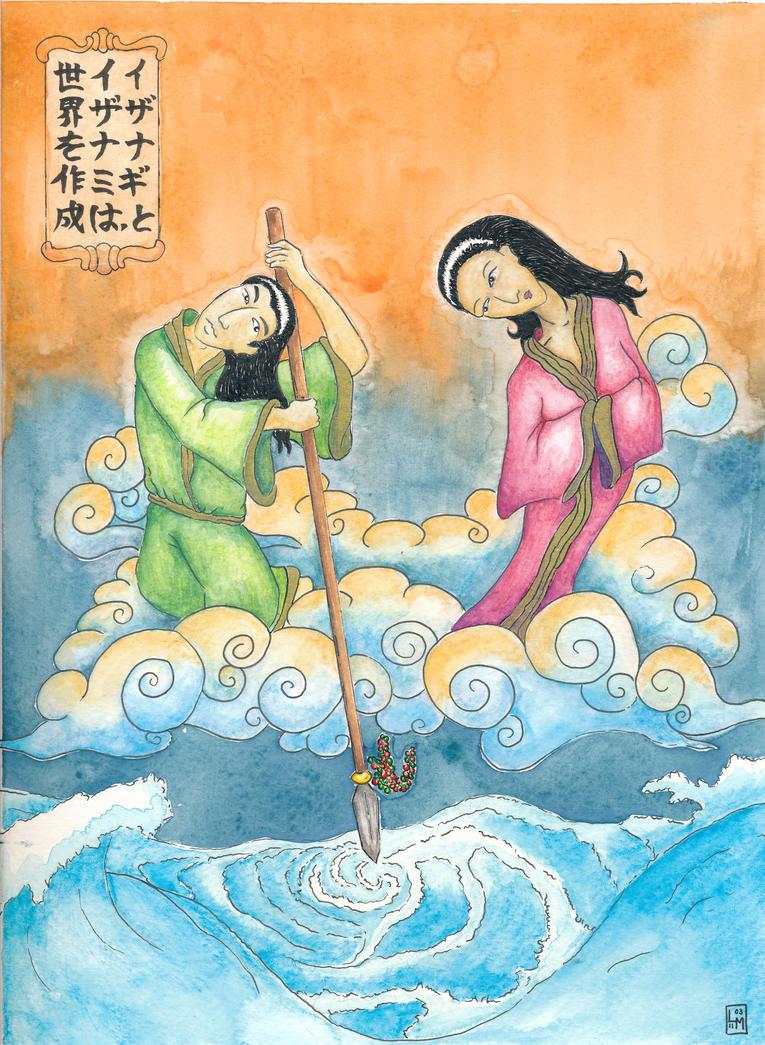 izanami and izanagi creating the world picture izanami