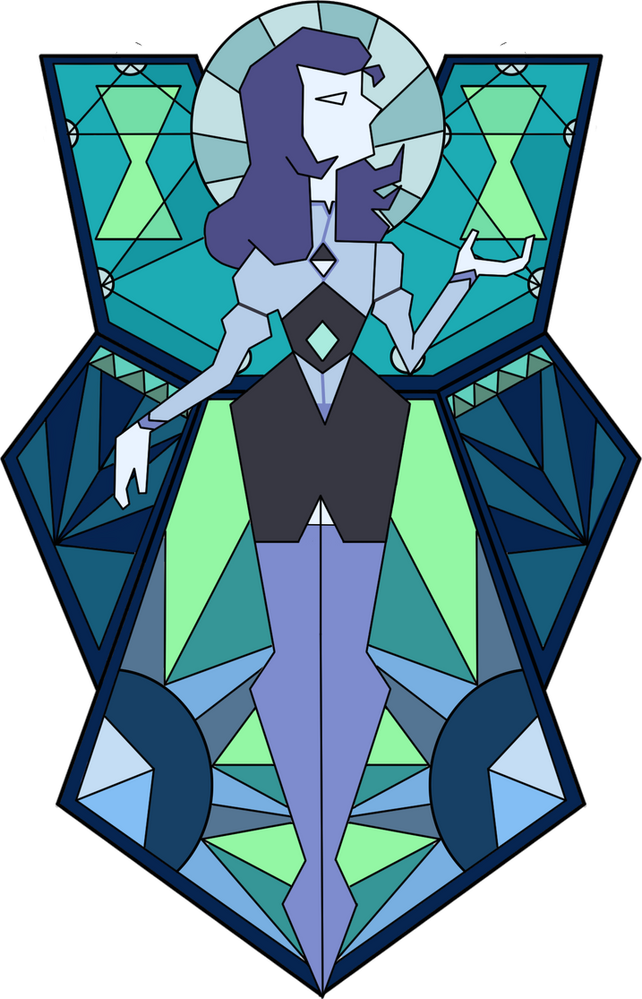 Light blue diamond mural by plantmatsu on deviantart for Yellow diamond mural