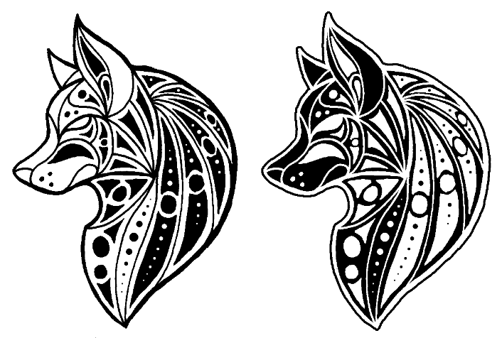 Lineart Wolf Tattoo : Best 25 wolf design ideas on geometric designs doodles