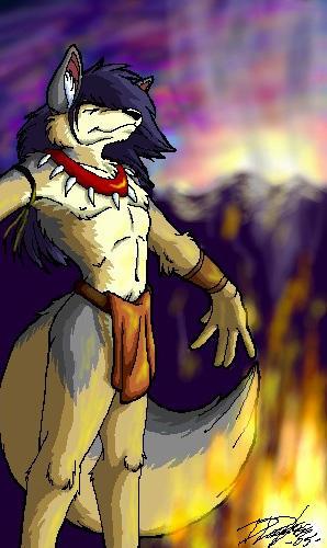 Coyote Shaman - Oekaki by keikittora