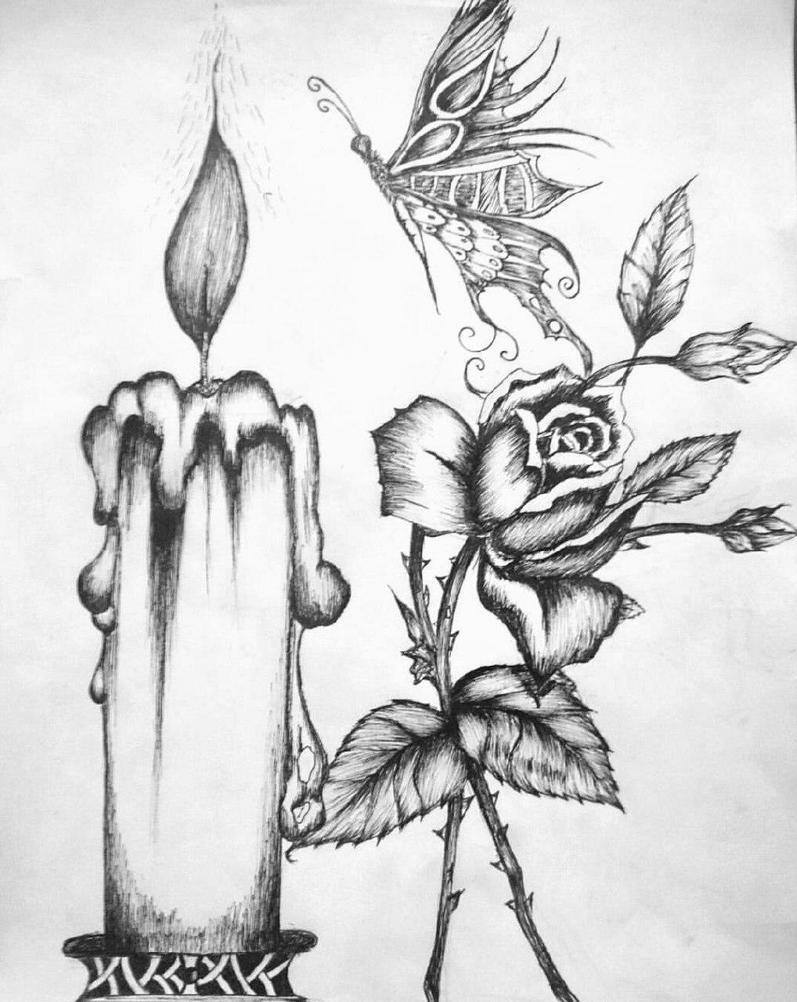 candel flower butterfly by Shah-Rock