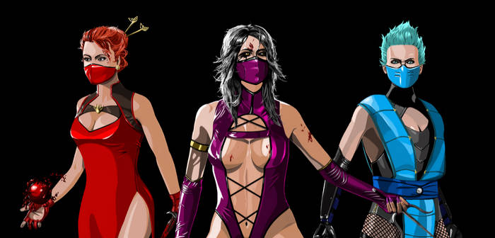 Skarlet X Milleena X Frost (with masks)