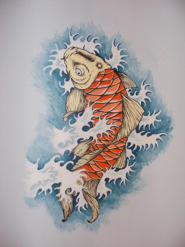 Koi Fish Wall Decor Wallpaper : Koi fish on the wall by soulsweeper deviantart