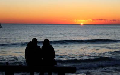 Sunset at Carcavelos Beach / Portugal