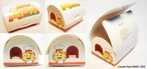 Packaging Mr. Arepa dessertbox