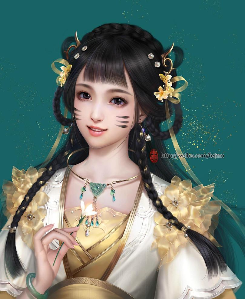 Teenage girl by feimo